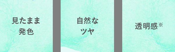 見たまま 発色 自然なツヤ 透明感※
