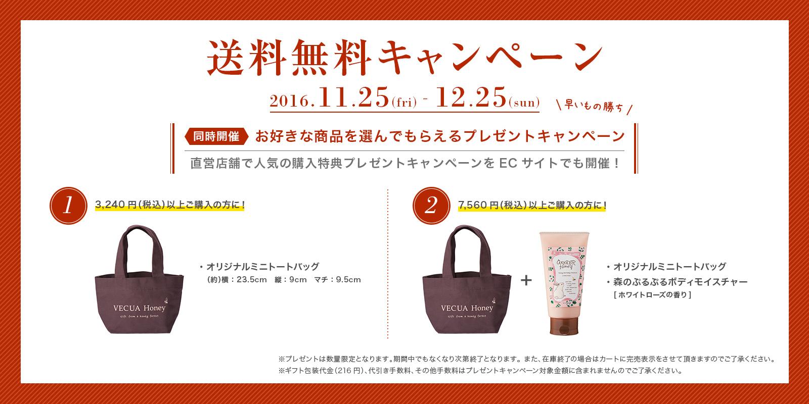 送料無料のお知らせ!11/25(FRI)〜12/25(SUN)まで